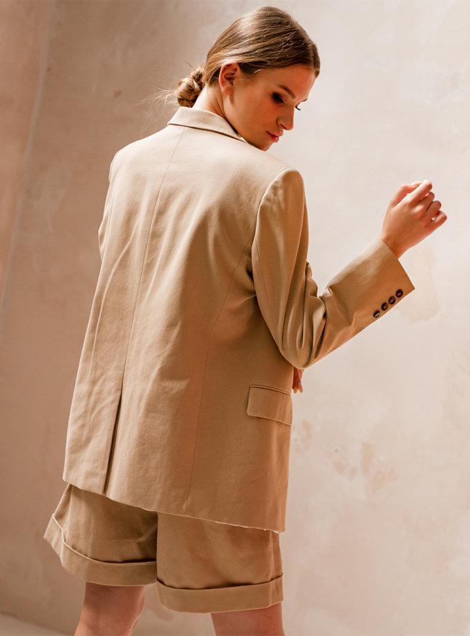 Хлопковый жакет oversize SHE_jacket_beige, фото 1 - в интернет магазине KAPSULA