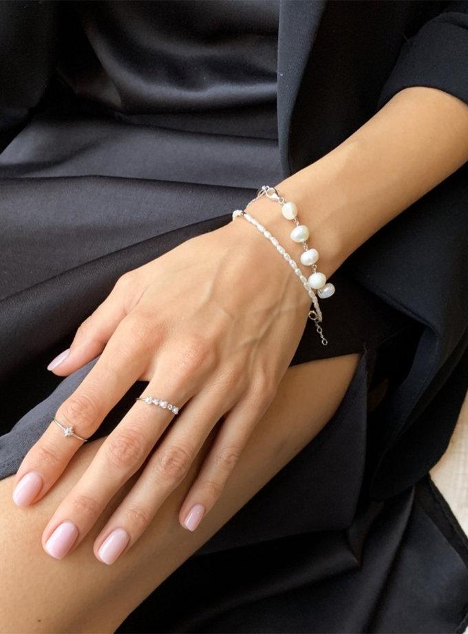 Браслет из серебра с натуральным жемчугом BRND_B6910005, фото 1 - в интернет магазине KAPSULA