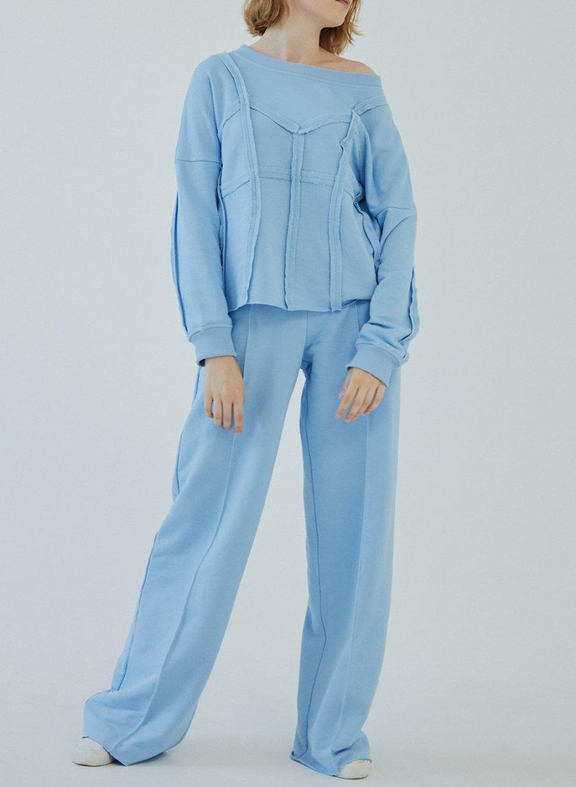 Широкие брюки на резинке MRZZ_mz_103821, фото 1 - в интернет магазине KAPSULA