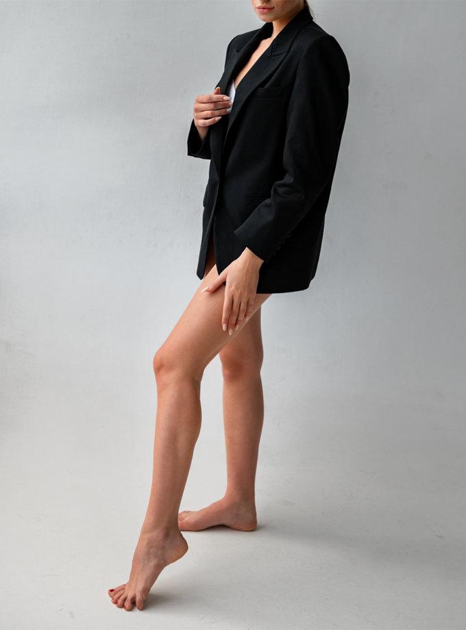 Хлопковый жакет oversize SHE_jacket_black, фото 1 - в интернет магазине KAPSULA