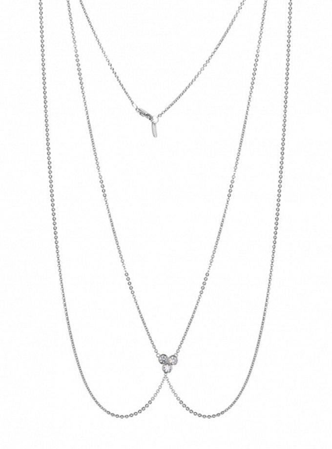 Цепочка на тело из серебра с фианитами BRND_N6610002, фото 1 - в интернет магазине KAPSULA