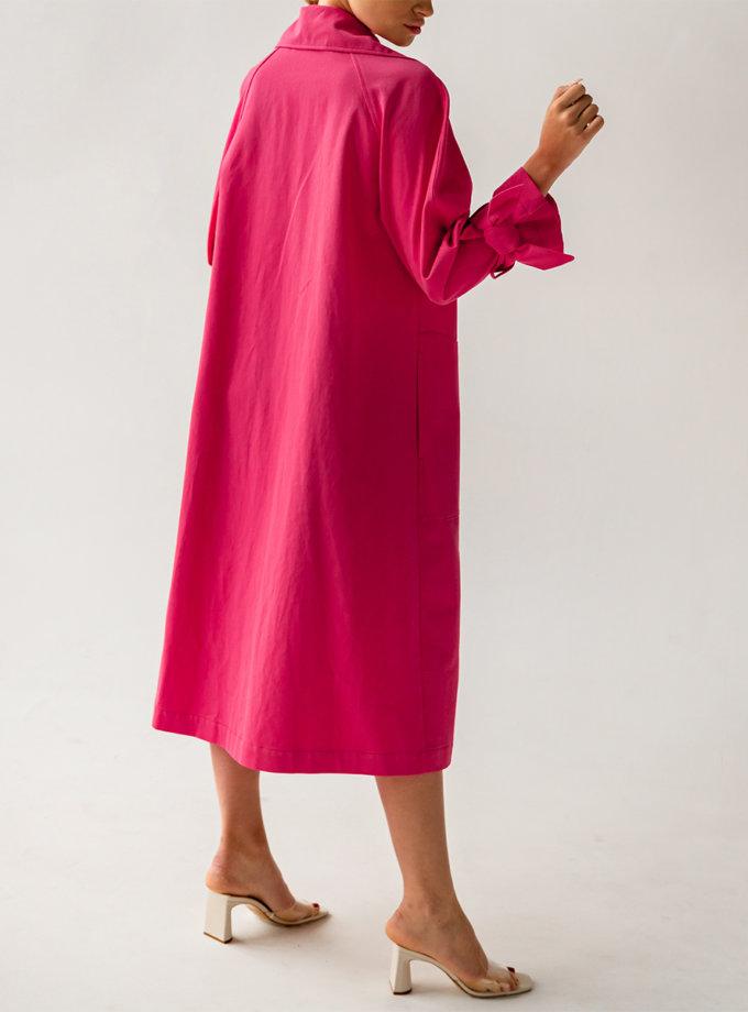 Хлопковый тренч с поясом SHE_trench_pink, фото 1 - в интернет магазине KAPSULA