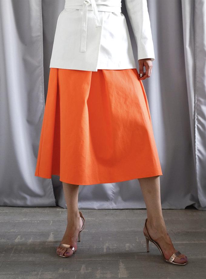 Хлопковая юбка А-силуэта INS_SS20_3_01-skirt, фото 1 - в интернет магазине KAPSULA