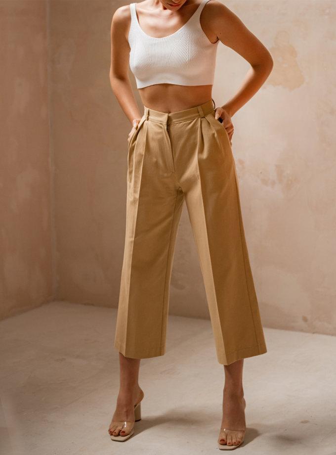 Кюлоты из хлопка SHE_culottes_beige, фото 1 - в интернет магазине KAPSULA