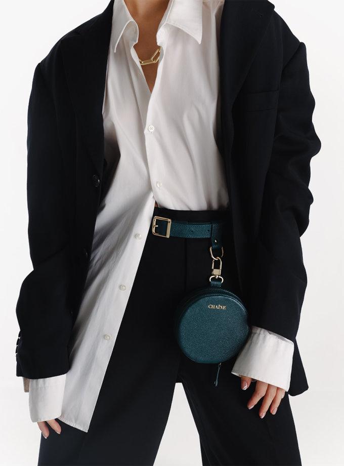Кругла сумка зі шкіри саф'яно green CHN_bag_green, фото 1 - в интернет магазине KAPSULA