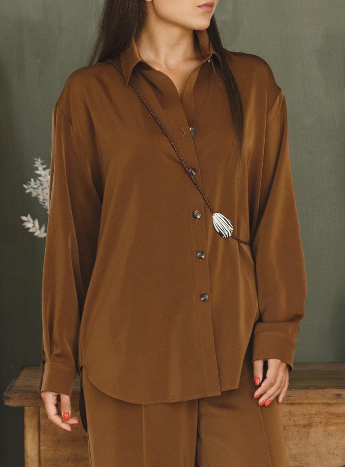 Объемная рубашка oversize VONA_FW-21-22-20, фото 1 - в интернет магазине KAPSULA