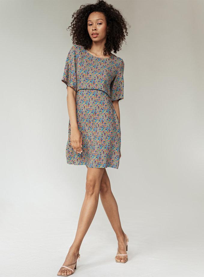 Хлопковое платье мини Диана WKMF_63_1, фото 1 - в интернет магазине KAPSULA