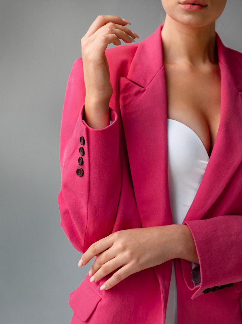 Хлопковый жакет oversize SHE_jacket_pink, фото 1 - в интернет магазине KAPSULA