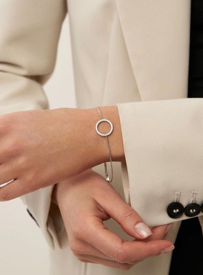Серебряный браслет с фианитами на руку и на ногу BRND_B6611037, фото 1 - в интернет магазине KAPSULA