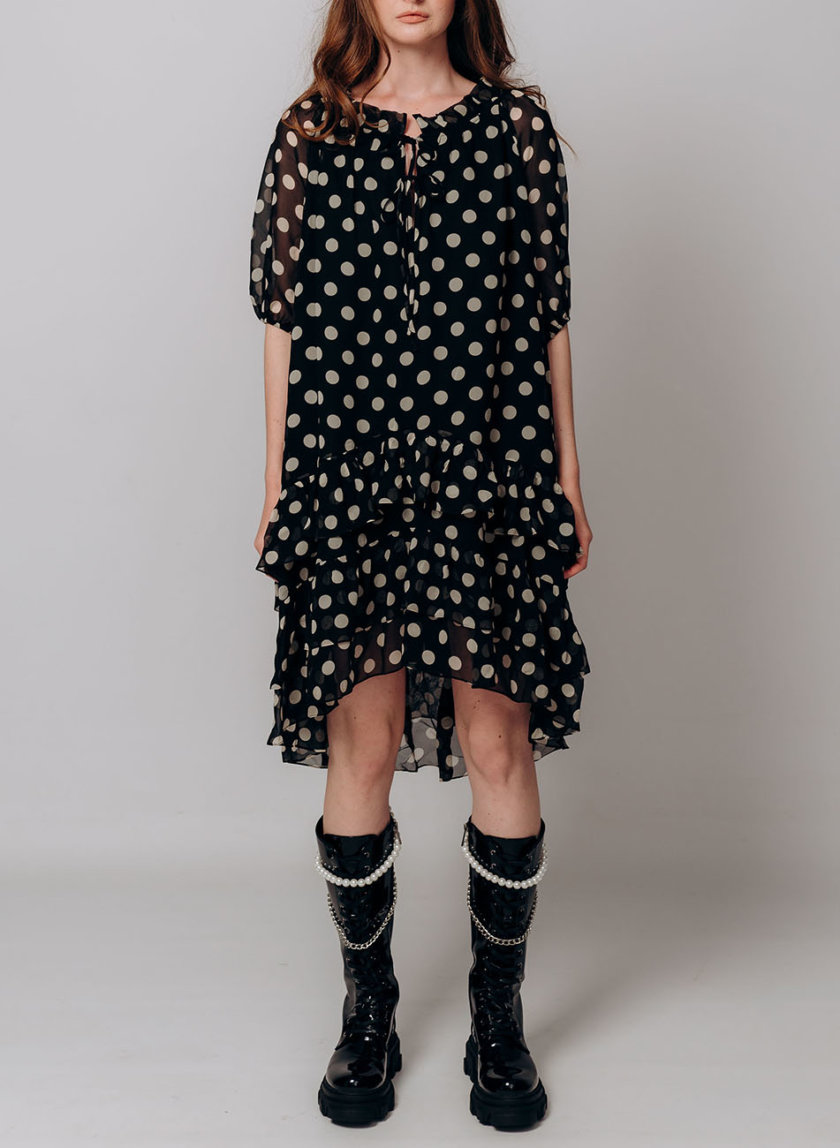 Платье в горох BETH_BD_pre-fall2021_2, фото 1 - в интернет магазине KAPSULA