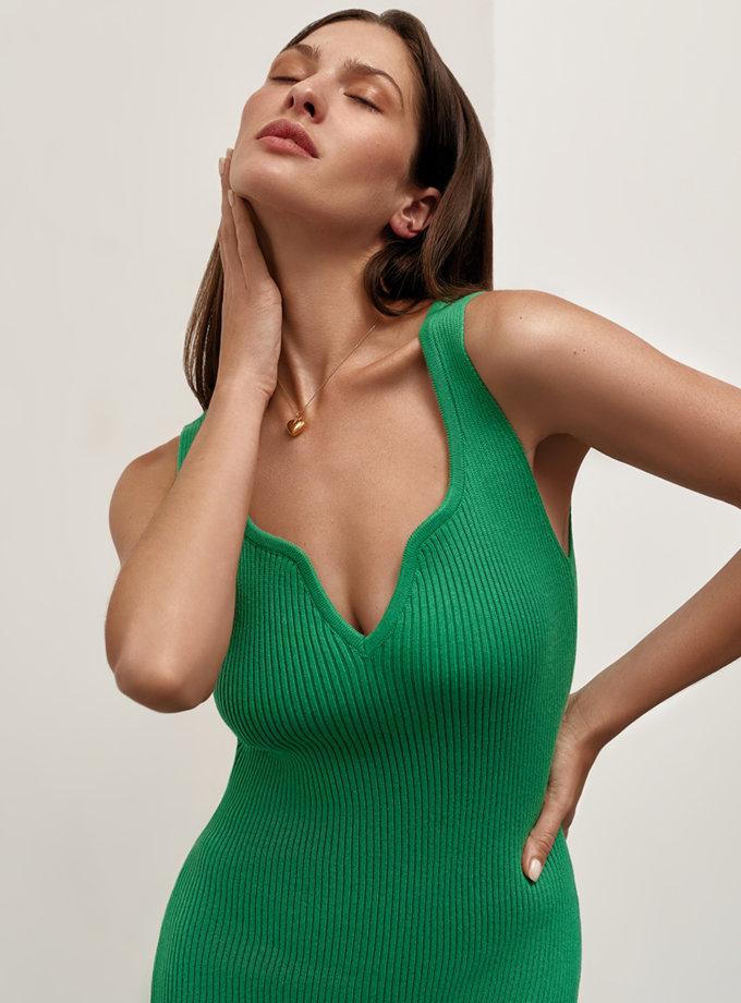 Бавовняна сукня міді Bella CHMSP_CS_18333, фото 1 - в интернет магазине KAPSULA