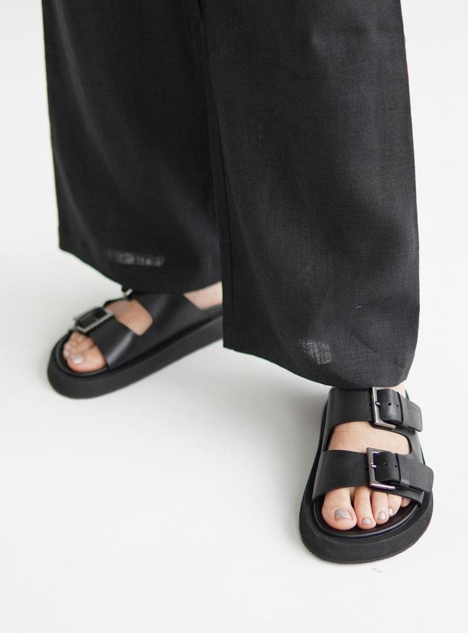 Шкіряні сандалі ETP_MS17-0001-Black, фото 1 - в интернет магазине KAPSULA