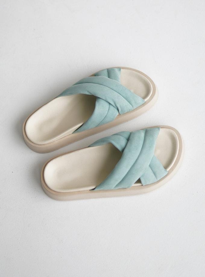 Шкіряні сандалі ETP_LB-37-Mint, фото 1 - в интернет магазине KAPSULA