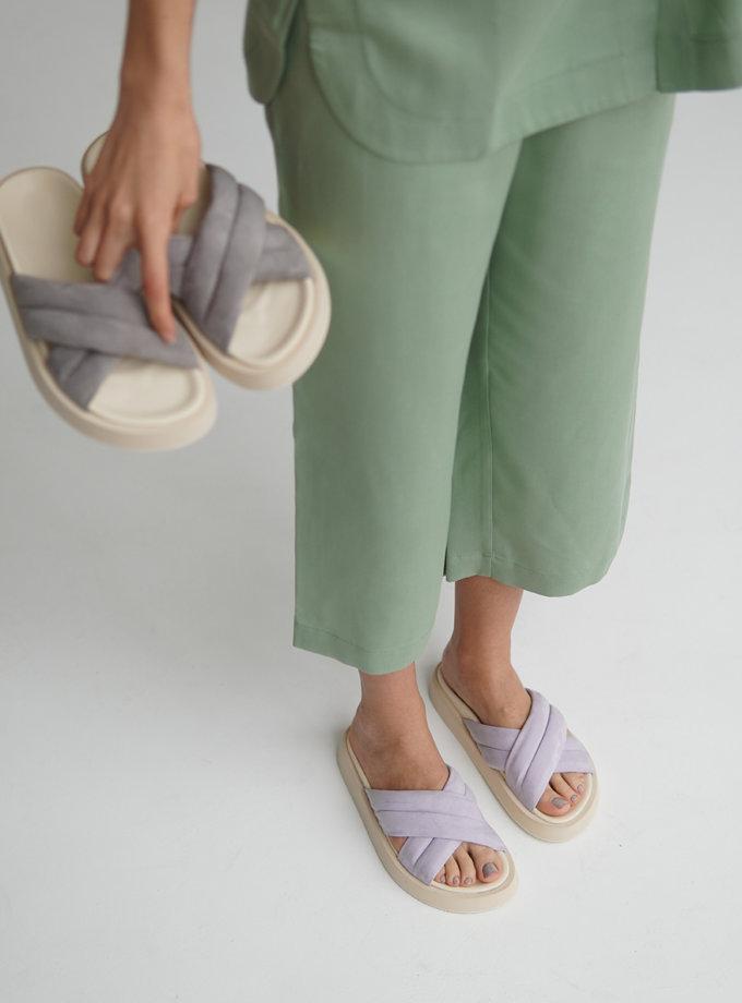 Шкіряні сандалі ETP_LB-37-Lavender, фото 1 - в интернет магазине KAPSULA