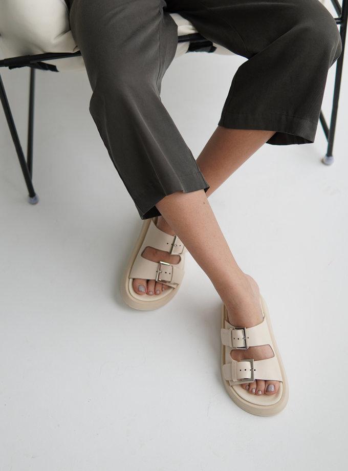 Шкіряні сандалі ETP_MS17-0002-Creamy, фото 1 - в интернет магазине KAPSULA