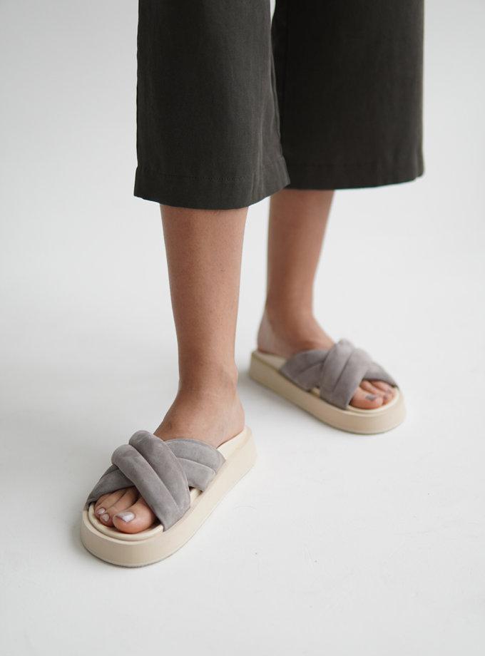 Шкіряні сандалі ETP_LB-37-Grey, фото 1 - в интернет магазине KAPSULA