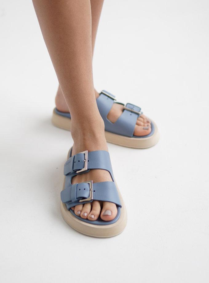 Шкіряні сандалі ETP_MS17-0003-Denim, фото 1 - в интернет магазине KAPSULA