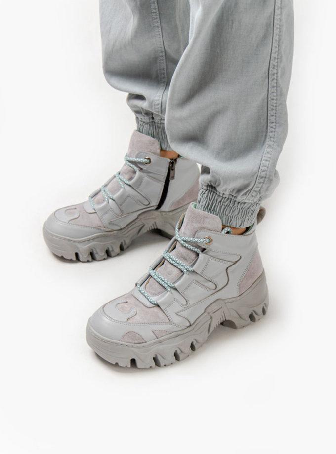 Кожаные кроссовки CRS_fw21_21-01500, фото 1 - в интернет магазине KAPSULA