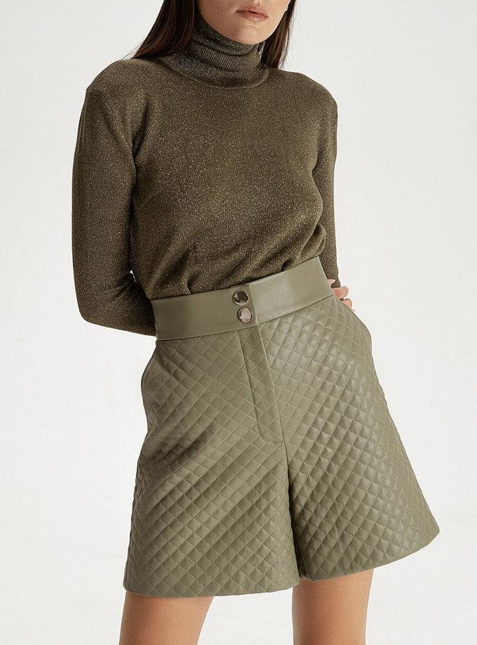 Стьобані шорти з еко-шкіри pistachio WNDR_fw21_elf_05, фото 1 - в интернет магазине KAPSULA