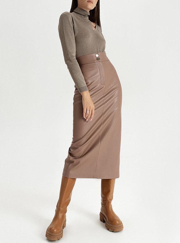 Cпідниця з еко-шкіри mocco WNDR_fw21_elm_03, фото 1 - в интернет магазине KAPSULA
