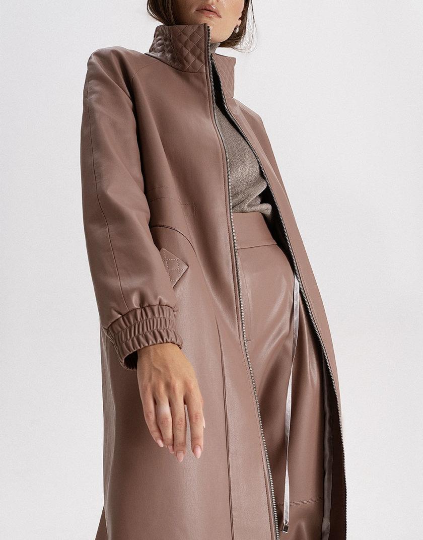 Плащ из эко-кожи mocco WNDR_fw21_elm_04, фото 1 - в интернет магазине KAPSULA