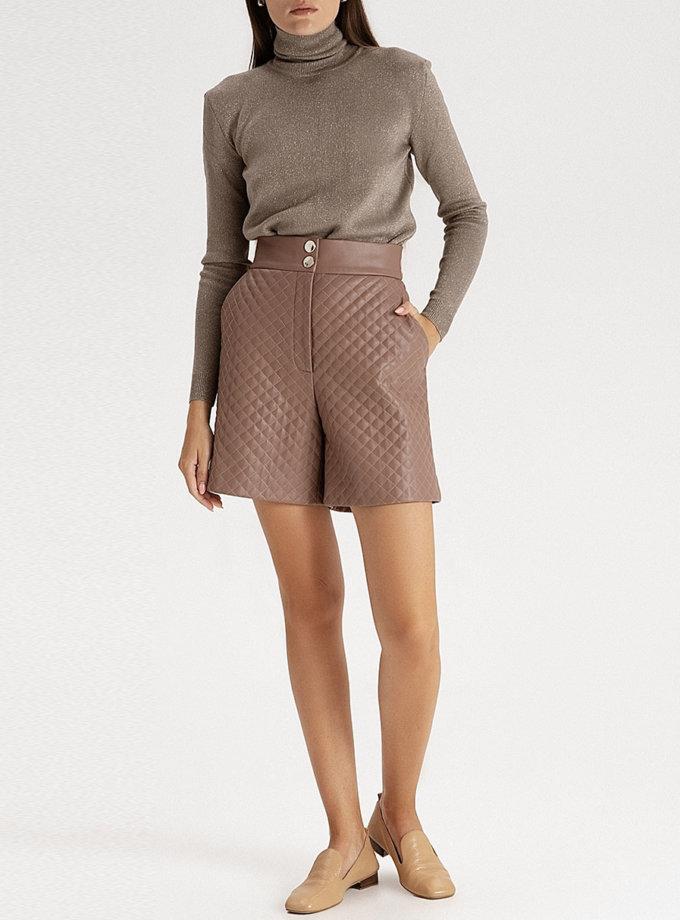 Стьобані шорти з еко-шкіри mocco WNDR_fw21_elm_05, фото 1 - в интернет магазине KAPSULA