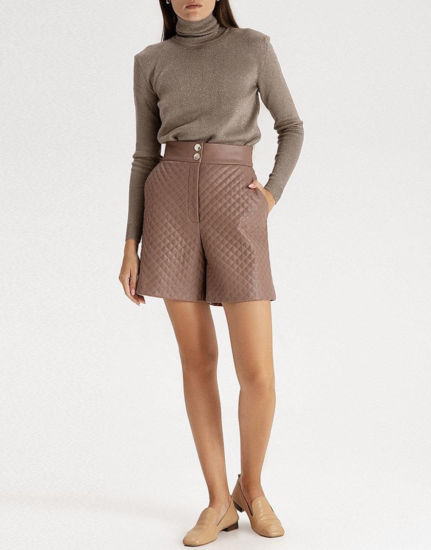Стеганые шорты из эко-кожи mocco WNDR_fw21_elm_05, фото 1 - в интернет магазине KAPSULA