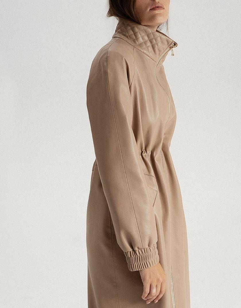Плащ из эко-кожи beige WNDR_fw21_elb_04, фото 1 - в интернет магазине KAPSULA