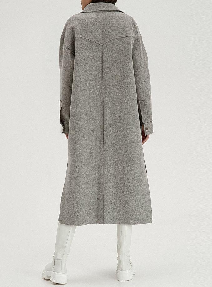 Вовняне пальто-сорочка gray WNDR_fw21_wg_02, фото 1 - в интернет магазине KAPSULA