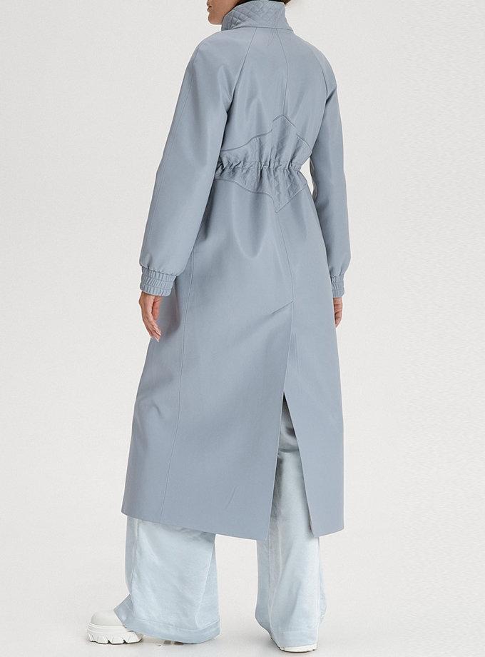 Плащ з еко-шкіри grey-blue WNDR_fw21_elbl_04, фото 1 - в интернет магазине KAPSULA