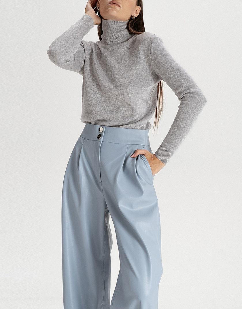 Брюки-палаццо из эко-кожи grey-blue WNDR_fw21_elbl_02, фото 1 - в интернет магазине KAPSULA