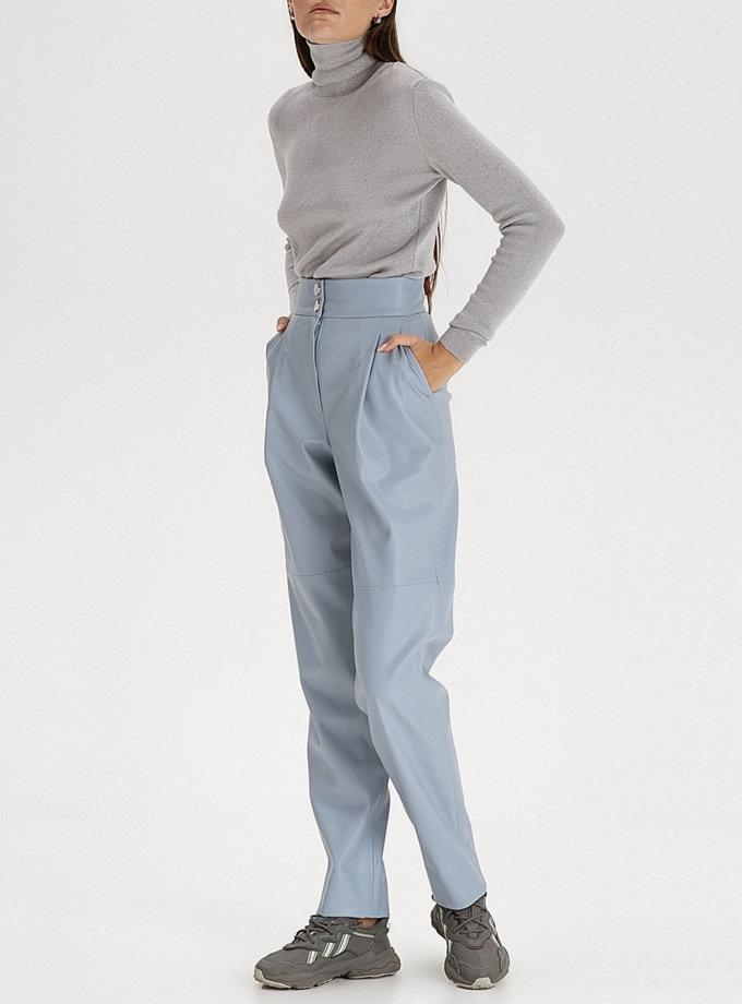 Брюки вільного крою з еко-шкіри grey-blue WNDR_fw21_elbl_07, фото 1 - в интернет магазине KAPSULA