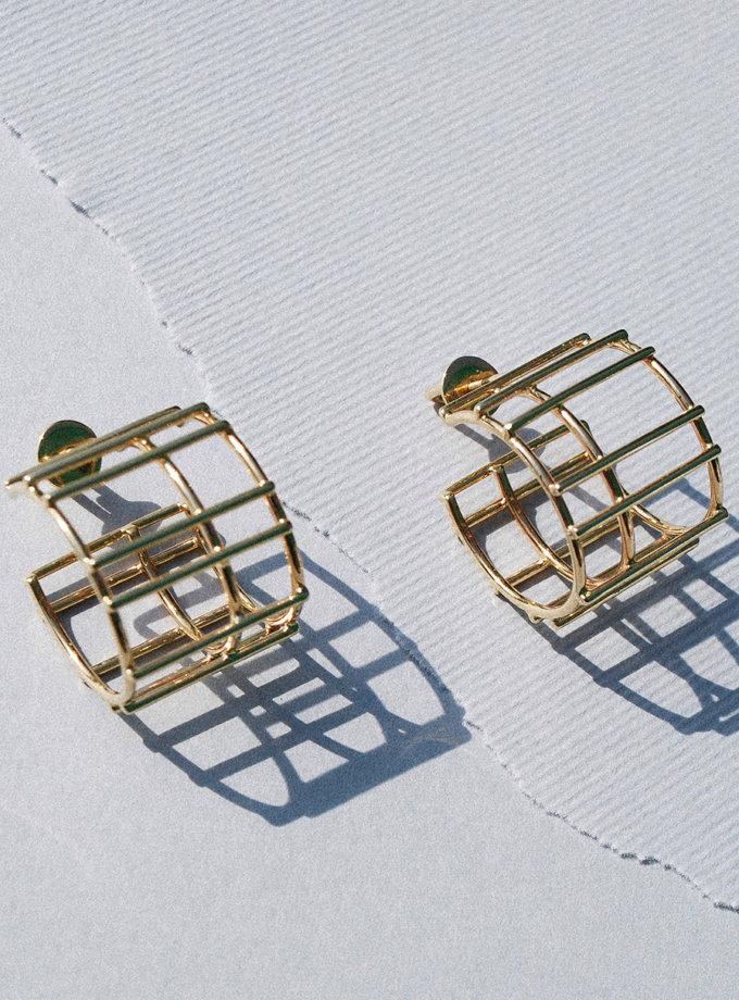 Серьги с желтого золота RAJ_ERA-021, фото 1 - в интернет магазине KAPSULA