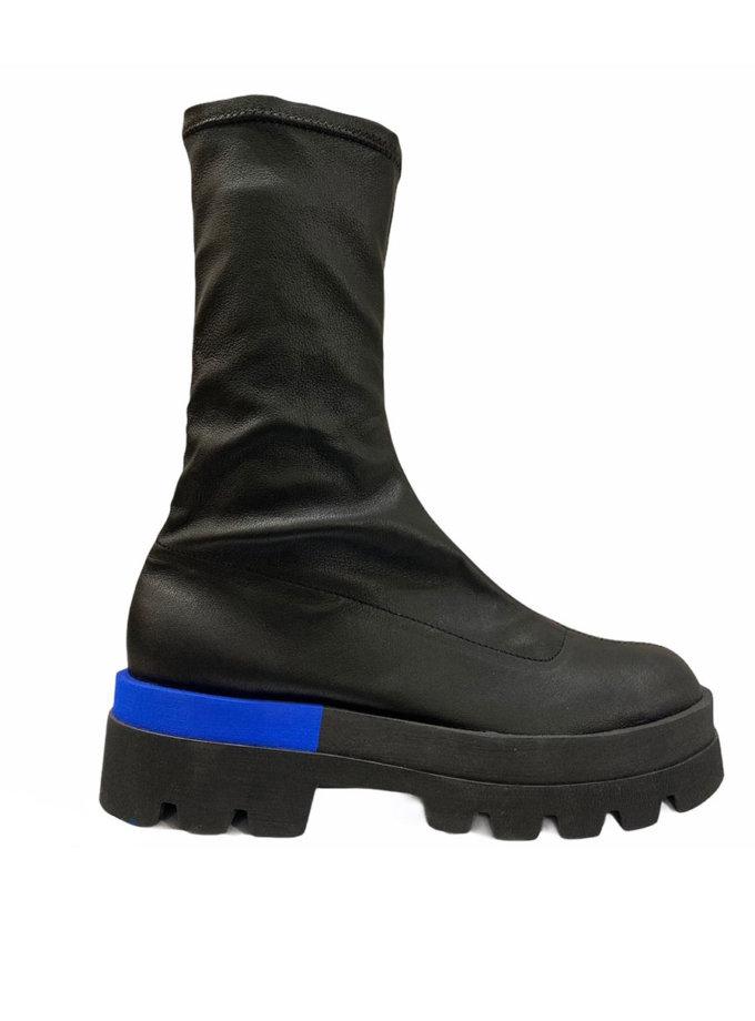 Кожаные ботинки ETP_Sky-4-Eva-blue, фото 1 - в интернет магазине KAPSULA