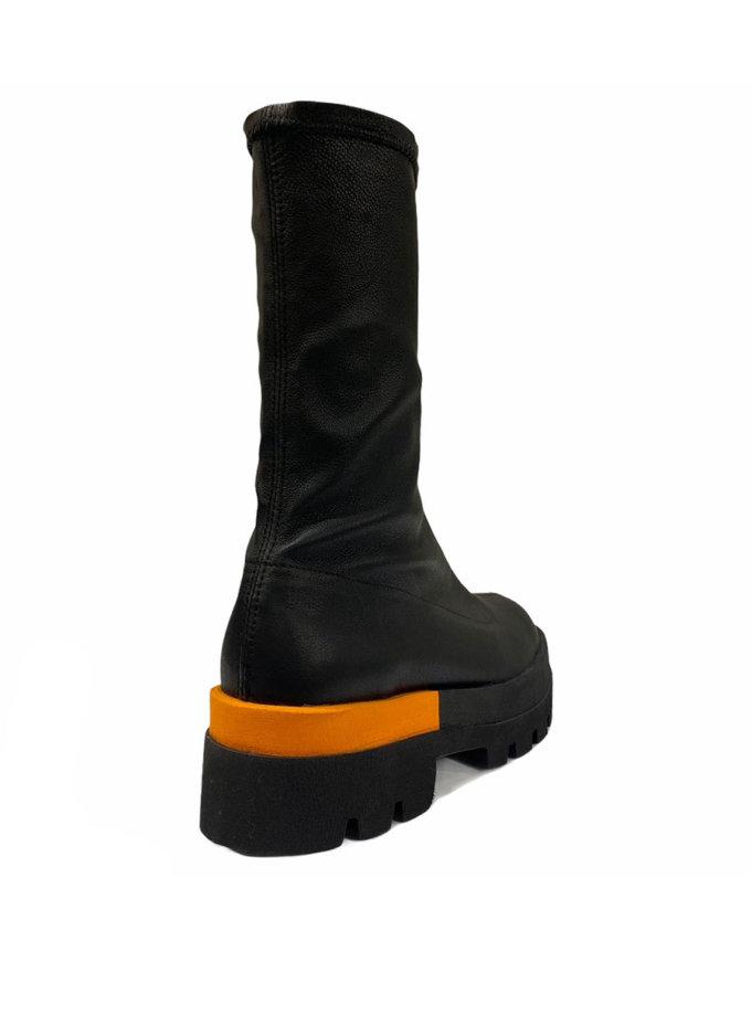 Кожаные ботинки ETP_Sky-4-Eva-orange, фото 1 - в интернет магазине KAPSULA