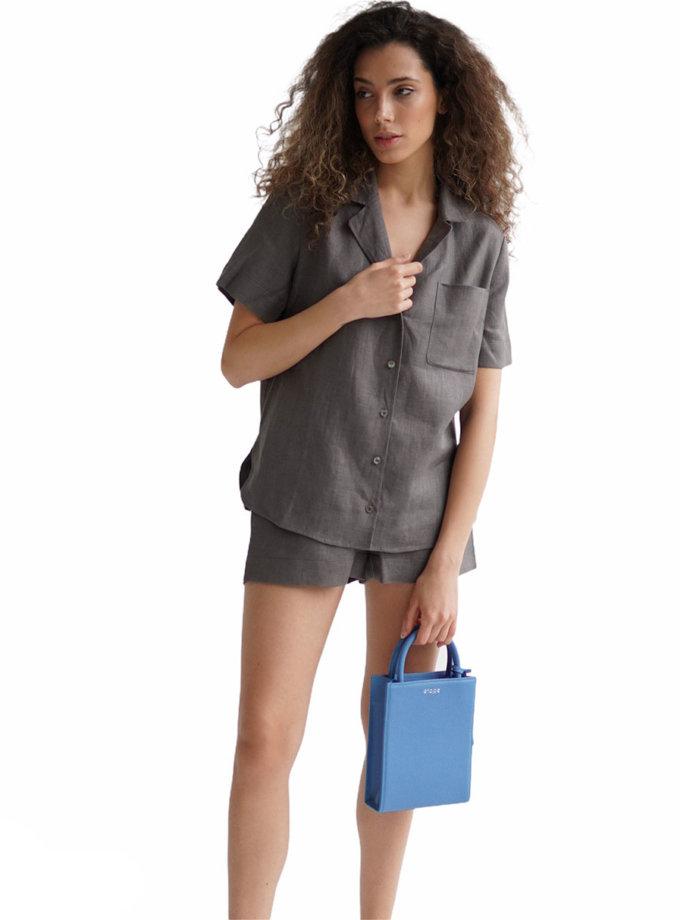Льняной костюм с шортами ETP_EW-suit-linen-grey, фото 1 - в интернет магазине KAPSULA
