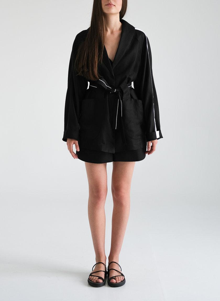Льняной комплект с жакетом и шортами FRBC_FBsuit_lin_bl, фото 1 - в интернет магазине KAPSULA