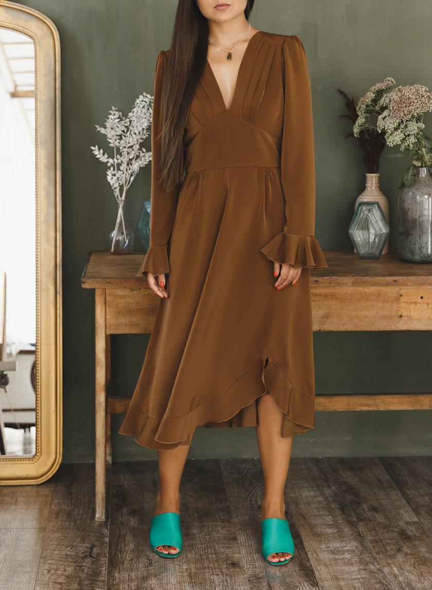 Платье миди с открытой спиной VONA_FW-21-22-08, фото 1 - в интернет магазине KAPSULA