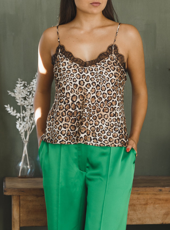 Топ в леопардовый принт VONA_FW-21-22-14, фото 1 - в интернет магазине KAPSULA