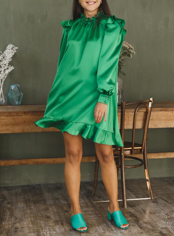 Объемное платье мини VONA_FW-21-22-19, фото 1 - в интернет магазине KAPSULA