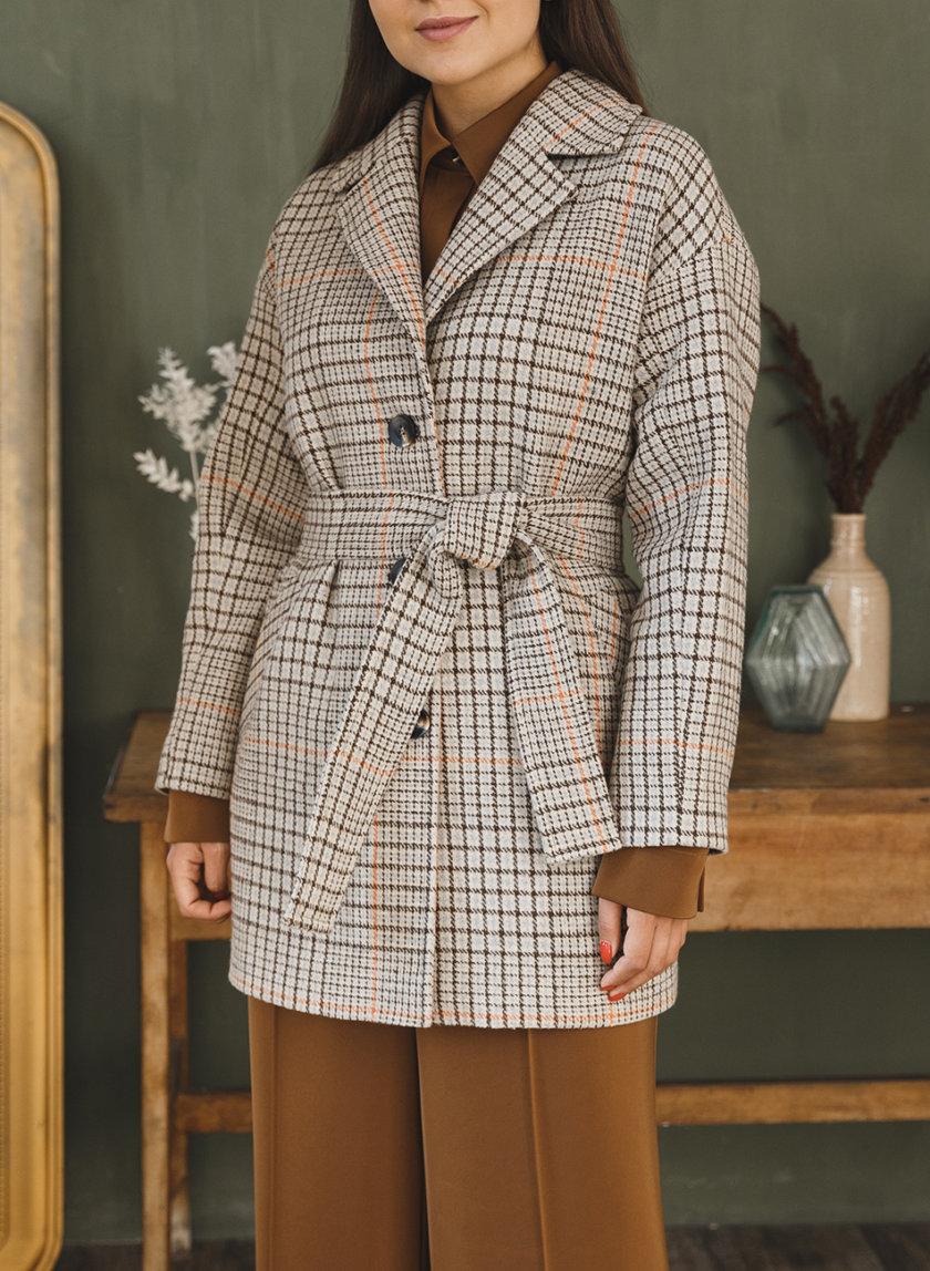 Укороченное пальто из шерсти VONA_FW-21-22-36, фото 1 - в интернет магазине KAPSULA