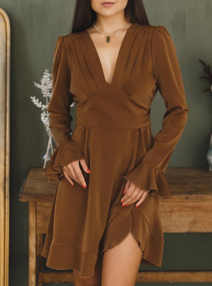 Платье мини с открытой спиной VONA_FW-21-22-37, фото 1 - в интернет магазине KAPSULA