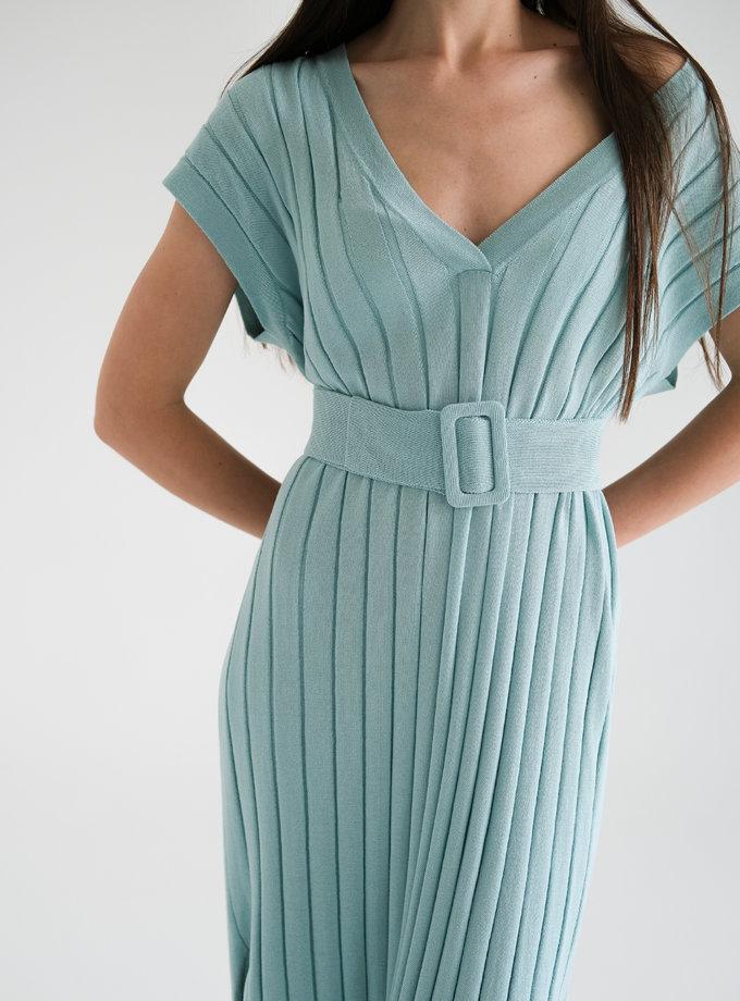 Хлопковое платье с фактурной вязкой FRBC_Fbkndress_mint, фото 1 - в интернет магазине KAPSULA