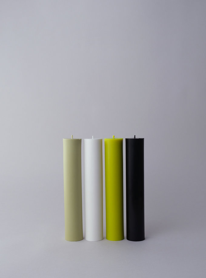 Набор GREEN CANDLES SET PILLAR SB_PL_GRN-4, фото 1 - в интернет магазине KAPSULA