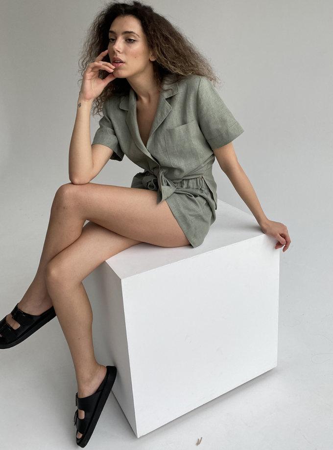 Льняной костюм с шортами ETP_ EW-suit-linen-mint, фото 1 - в интернет магазине KAPSULA