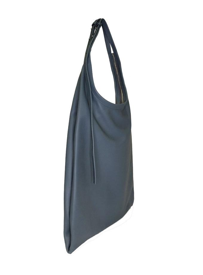 Шкіряна сумка La Poche ETP_La-Poche-Grand-Bleu-Gris, фото 1 - в интернет магазине KAPSULA