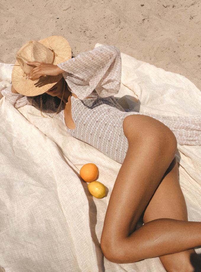 Суцільний купальник Santorini SSB_SN_SS21_01, фото 1 - в интернет магазине KAPSULA