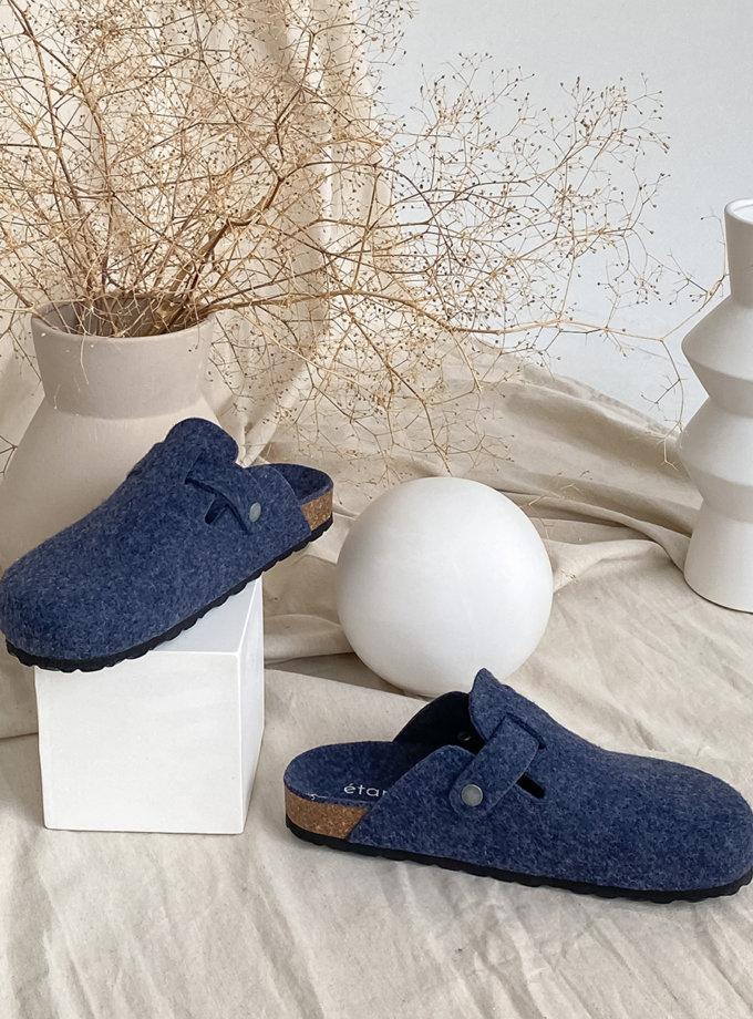 Тапочки из войлока BRILLAN AZUL ETP_BRILLAN-AZUL, фото 1 - в интернет магазине KAPSULA