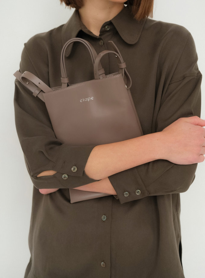 Шкіряна сумка Petite Taupe ETP_0027-Petite-Taupe, фото 1 - в интернет магазине KAPSULA