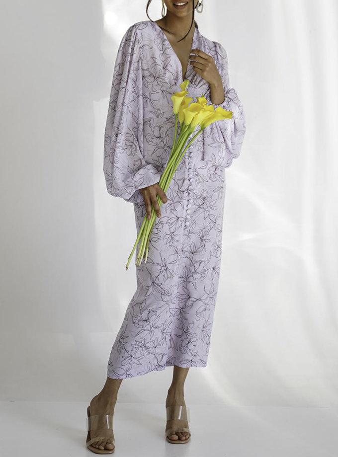 Платье Amara с объемными рукавами MC_MY7921-1, фото 1 - в интернет магазине KAPSULA